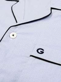 Pijama Giulio en tela azul milrayas mod. Arlon