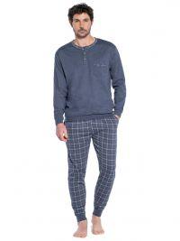 Pijama Guasch de Algodón con bolsillo en el pecho y puños