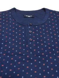 Pijama Guasch de Algodón con topitos en azul marino