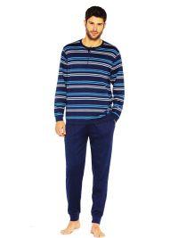 Pijama Guasch de Algodón listado marino con puños