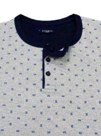 Pijama Guasch de Algodón corto en gris de punto combinado