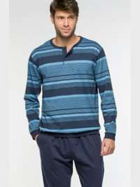 Pijama Guasch a Rayas Azules con puños