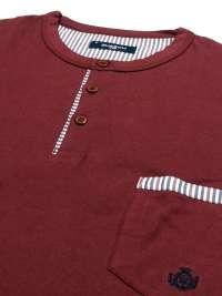 Pijama Guasch de Algodón burdeos y pantalón de tela