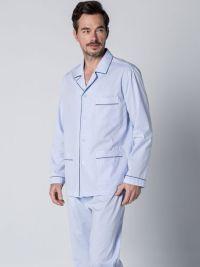 Pijama Guasch Tela Algodón Azul Básico