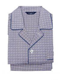Pijama Guasch Tela en Algodón estampado azul