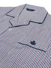 Pijama Guasch Tela de Algodón a rayas burdeos (Talla Extragrandes)