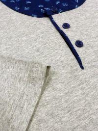 Pijama Guasch de Verano en gris con bolsillo en el pecho