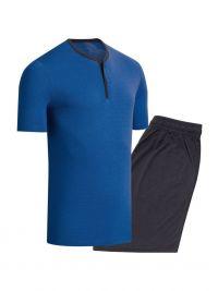 Pijama Impetus con Lyocell y Algodón en azul