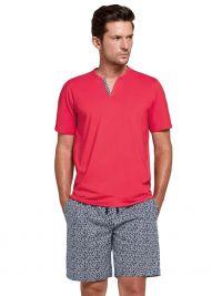 Pijama Impetus en Algodón Kotri rojo con pantalón de tela