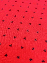 Pijama Impetus en algodón rojo rubí con topitos