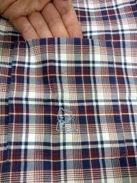 Pijama Kiff-kiff en tela a cuadritos burdeos y azul