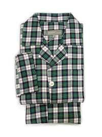 Pijama hombre Kiff-kiff en tela cuadros verde