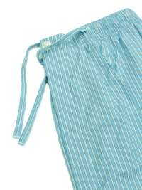 Pijama Kiff-kiff en tela azul y rayitas blancas