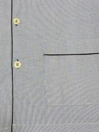 Pijama Kiff-kiff de tela popelín en azul con micro-cuadritos