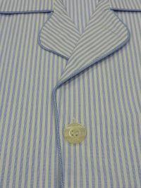 Pijama Kiff-kiff de tela popelín azul con rayitas en blanco