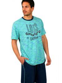 Pijama Lois Hombre azul  turquesa jaspeado