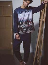 Pijama Hombre Lois Motorcycle con puños