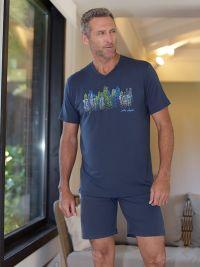 Pijama Massana para hombre de Bambú azul
