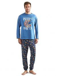 Pijama MuyDeMI en algodón con puño Pizza Party