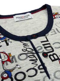 Pijama Massana estampado con motos y logos