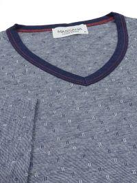 T.E. - Pijama Massana con cuello pico en marino