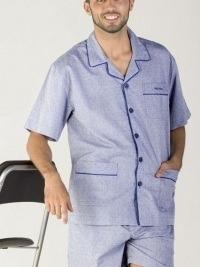 Pijama Pettrus Man de tela azul