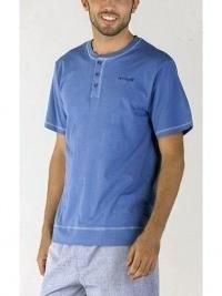 Pijama Pettrus Man manga corta, azul