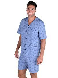 Pijama Pettrus Man en tela sin cuello y topitos