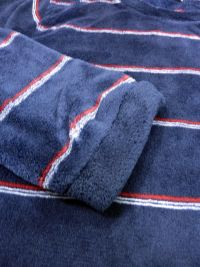 Pijama Privata Térmico Polar a rayas azul marino