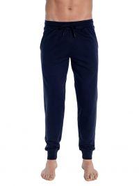 Pijama Punto Blanco Basix Afelpado en azul marino con puños