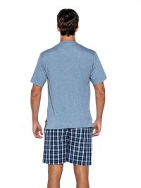 Pijama Punto Blanco mod. Grunge en algodón con pantalón de tela