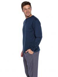Pijama Punto Blanco Magnetix con bolsillo y puños