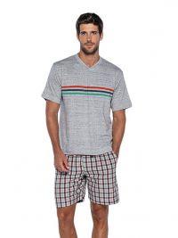 Pijama Punto Blanco mod. Razzle en algodón con pantalón de tela