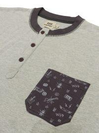 Pijama Barandi en algodón con puños en gris Rock