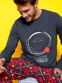 Pijama Smiley World gris marengo
