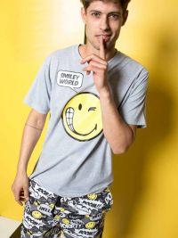 Pijama Smiley World en gris