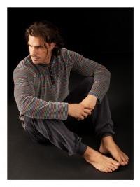Pijama Soy Terciopelo a rayas con Puño