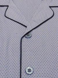 Pijama camisero hombre de Pettrus Man estampado con topitos