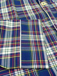 Pijama Kiff-kiff de tela a cuadros en azul marino