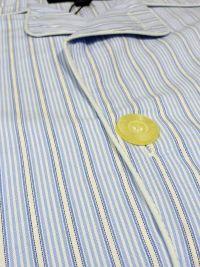 Pijama Kiff-kiff de tela popelín con rayitas en blanco y azul