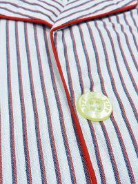 Pijama Kiff-kiff de tela popelín con rayitas en rojo y blanco