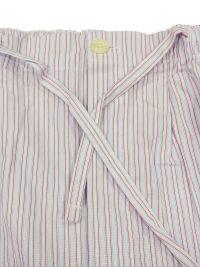 Pijama Kiff-kiff de tela popelín con rayitas en azul, rojo y blanco