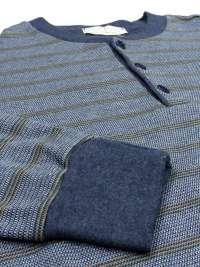 Pijama Vilfram de Algodón Afelpado con puños Listado