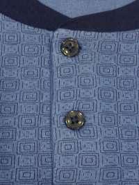 Pijama Il Granchio Algodón con puños en Azul