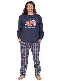 Pijama Pettrus Man en algodón con puños mod. furgo surfer
