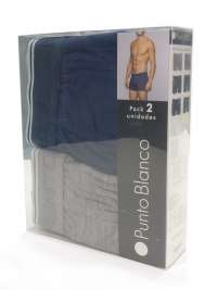 2 Pack Boxers Punto Blanco Bambú G.A.