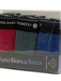 3 Pack Punto Blanco Slips Basix RGB