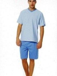Pijama Verano Punto Blanco, Azul