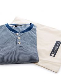 Pijama Punto Blanco Bionix de Bambú en Azul