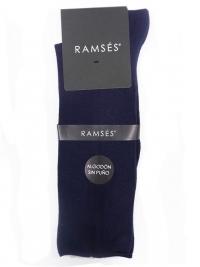 Calcetín Ramsés Algodón sin puño azul